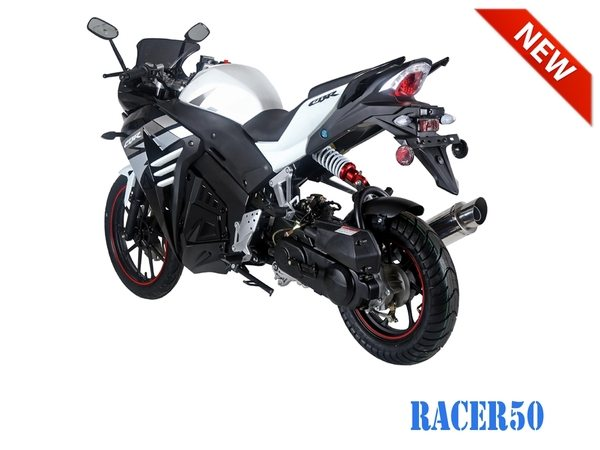 Black/Silver Racer 50cc New 2017 Design