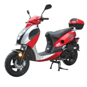 Red Powermax 150cc Scooter