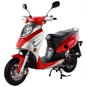 Red 50cc Scooter cy50a
