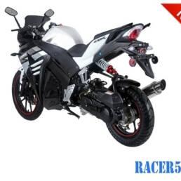 Black/Silver Racer 50cc New 2017 Design