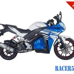 Blue/Silver Racer 50cc New 2017 Design